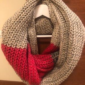Roots Accessories - Roots | Cabin knitted Infinity Scarf Pink